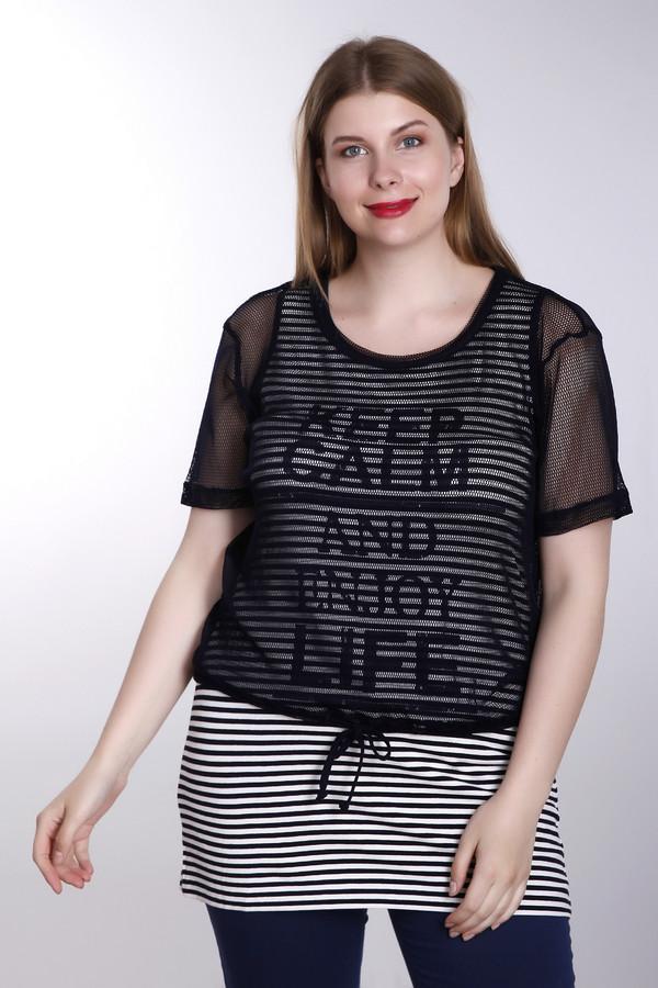 Футболка Via AppiaФутболки<br>Молодежная женская футболка от бренда Via Appia черного и белого цветов. Данное изделие было выполнено из вискозы и эластана. Эта модель предназначена для летнего сезона. Футболка удлиненная. Дополнена верхним слоем выполненным из черной прозрачной ткани. Модель выполнена в черно-белую полоску и с надписью: «Keep calm and enjoy life».<br><br>Размер RU: 48<br>Пол: Женский<br>Возраст: Взрослый<br>Материал: вискоза 90%, эластан 10%<br>Цвет: Белый