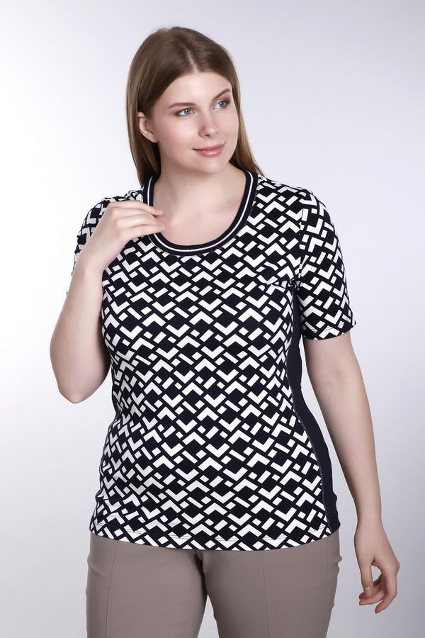 Футболка Via AppiaФутболки<br>Стильная женская футболка от бренда Via Appia. Футболка выполнена в черном и белом цветах с геометрическими узорами. У данной модели рукав длиной до середины плеча и круглый вырез. Она пошита из хлопка с небольшим процентом эластана.<br><br>Размер RU: 44<br>Пол: Женский<br>Возраст: Взрослый<br>Материал: эластан 7%, хлопок 93%<br>Цвет: Белый