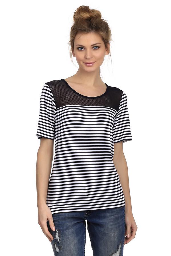Футболка LebekФутболки<br>Женская футболка свободного кроя от бренда Lebek. Это футболка в черно-белую полоску, декорированная кокеткой из сетки черного цвета на спине и передней ее части. У данной модели круглый вырез и рукав длиной до локтя. Она пошита из вискозы с добавлением эластана.<br><br>Размер RU: 48<br>Пол: Женский<br>Возраст: Взрослый<br>Материал: эластан 8%, вискоза 92%<br>Цвет: Белый
