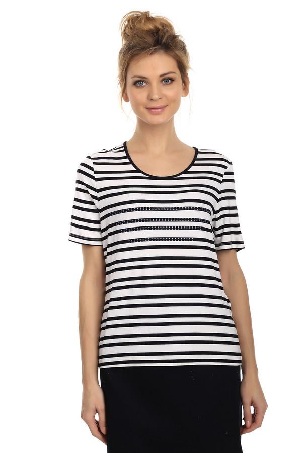 Футболка LebekФутболки<br>Полосатая женская футболка от бренда Lebek. Это футболка простого покроя, с круглым вырезом и рукавами длиной до середины плеча. Изделие выполнено из вискозы с добавлением эластана, и дополнено небольшими стразами на передней части. Расцветка футболки - черно-белая полоска.<br><br>Размер RU: 54<br>Пол: Женский<br>Возраст: Взрослый<br>Материал: эластан 5%, вискоза 95%<br>Цвет: Белый