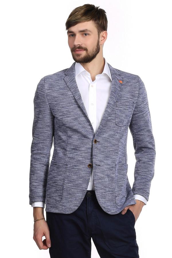 Пиджак BenvenutoПиджаки<br>Очень стильный мужской трикотажный пиджак от бренда Benvenuto приталенного кроя. Изделие дополнено: отложным воротником с лацканами, планкой на двух пуговицах, один нагрудным карманном, двумя накладными карманами и длинными рукавами. Пиджак сделан из черно-белого трикотажа. Такой пиджак отлично сочетается с белыми рубашками и простыми футболками.<br><br>Размер RU: 54<br>Пол: Мужской<br>Возраст: Взрослый<br>Материал: хлопок 40%, полиэстер 60%<br>Цвет: Серый