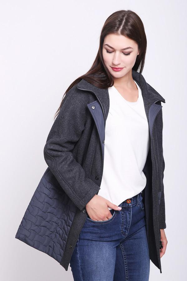 женское пальто pezzo, серое