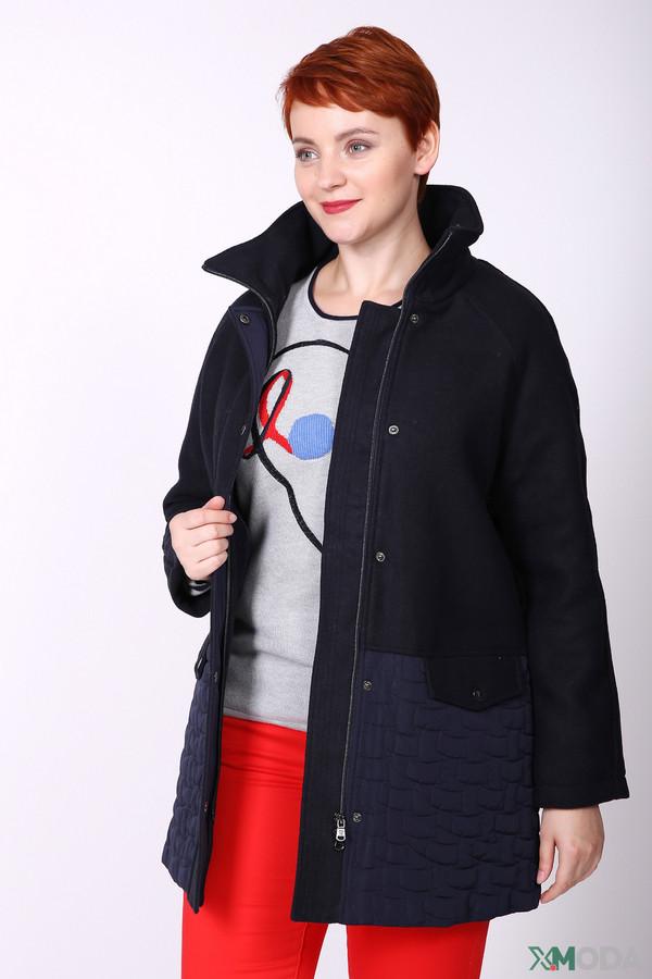 женское пальто pezzo, синее