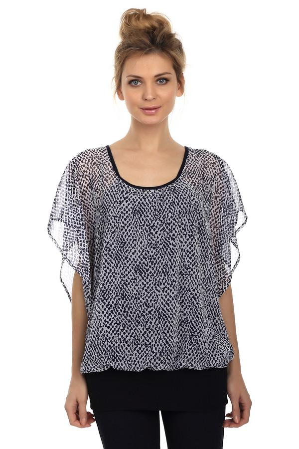Блузa SteilmannБлузы<br>Легкая летняя блуза от бренда Steilmann. Это блуза свободного покроя, из легкой полупрозрачной ткани, с черно-белым животным принтом. Фасон блузы - летучая мышь, а материал - полиэстер.<br><br>Размер RU: 50<br>Пол: Женский<br>Возраст: Взрослый<br>Материал: полиэстер 100%<br>Цвет: Чёрный