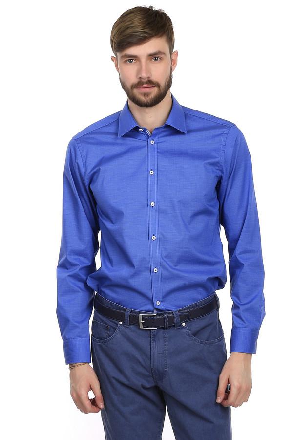 Рубашка с длинным рукавом VentiДлинный рукав<br>Рубашка с длинным рукавом Venti синего цвета, изготовлена из 100% хлопка без добавления посторонних материалов. Изделие дополнено: отложным воротником-стойкой и планкой на пуговицах. Рубашка выполнена в строгом официально-деловом стиле. Хорошо будет сочетаться как с  классическими джинсами , так и с  брюками .   slim fit/non-iron<br><br>Размер RU: 38<br>Пол: Мужской<br>Возраст: Взрослый<br>Материал: хлопок 100%<br>Цвет: Разноцветный