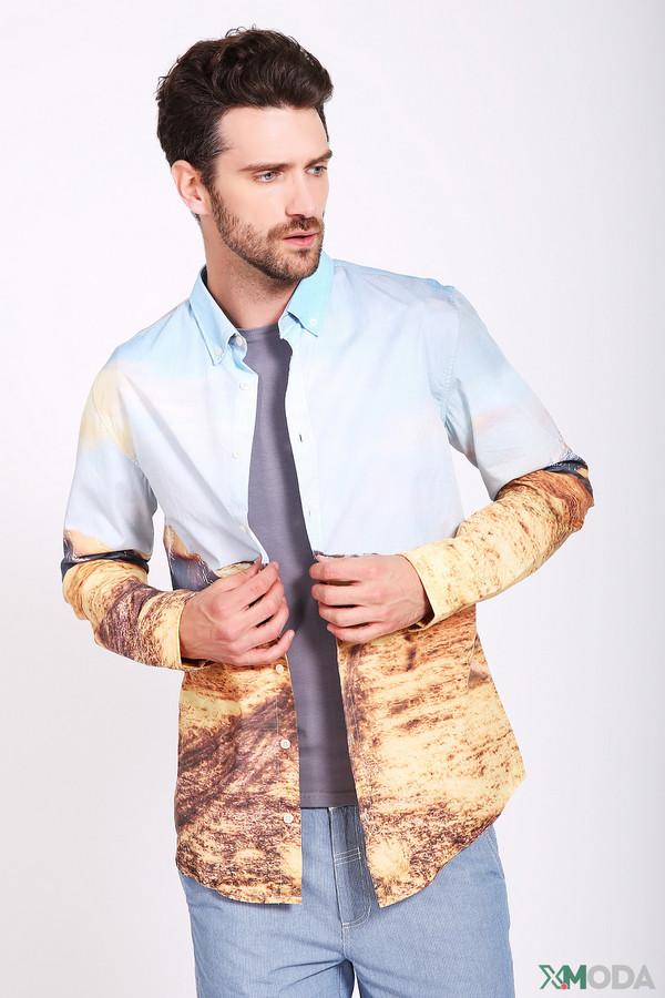 мужская рубашка с длинным рукавом boss orange, разноцветная