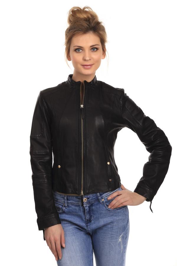 женская куртка boss orange, черная