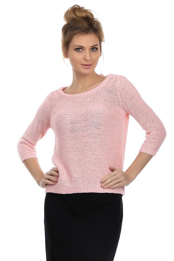 Пуловер Tom TailorПуловеры<br>Нежно-розовый женский пуловер от торговой марки Tom Tailor. Данная модель дополнена рукавом длиной в три четверти, U-образным вырезом с бантом из ажурной тесьмы на спине, и отделкой в виде резинки на рукавах, горловине и снизу изделия. Также внизу модель дополнена эмблемой торговой марки.<br><br>Размер RU: 44-46<br>Пол: Женский<br>Возраст: Взрослый<br>Материал: полиамид 35%, полиакрил 65%<br>Цвет: Розовый