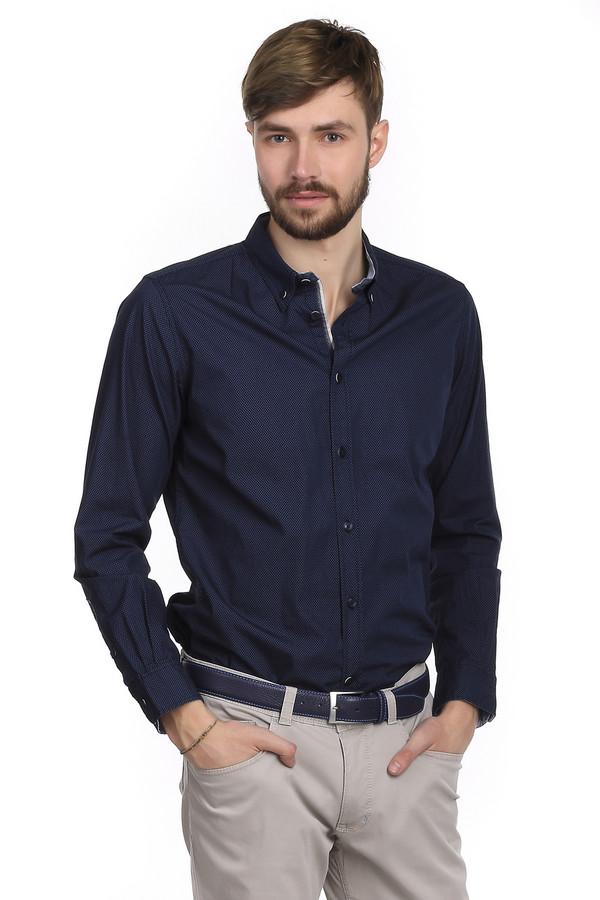 Рубашка с длинным рукавом Tom TailorДлинный рукав<br>Очень модная мужская рубашка от немецкого бренда Tom Tailor приталенного кроя. Изделие дополнено: отложным классическим воротником, планкой на пуговицах и длинными рукавами. Сделана эта рубашка из натурального материала, в составе которого только хлопок. По цвету рубашка темно-синяя, в мелкий голубой горошек. Выглядит такая рубашка очень стильно. В повседневной жизни вы можете носить ее на выпуск, но так же она будет вполне уместна в офисе, если заправить ее в брюки.<br><br>Размер RU: 44-46<br>Пол: Мужской<br>Возраст: Взрослый<br>Материал: хлопок 100%<br>Цвет: Голубой