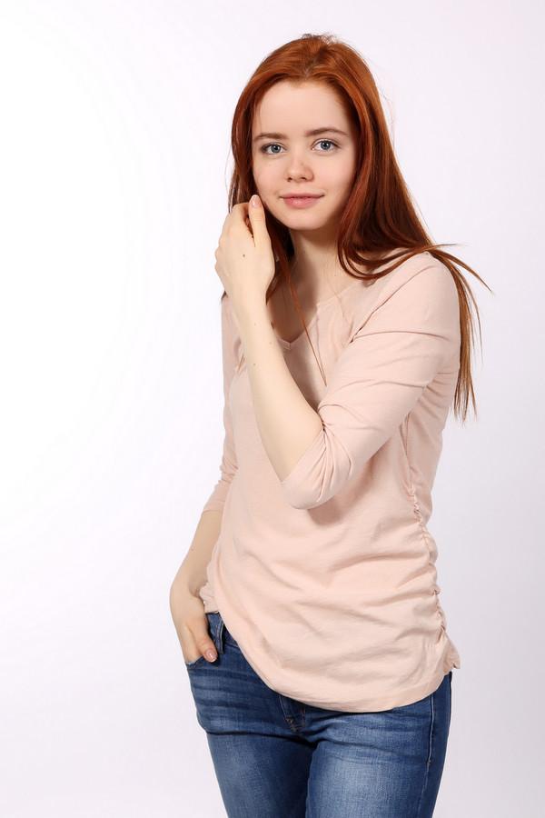 Лонгслив Tom TailorЛонгсливы<br>Футболка для женщин от бренда Tom Tailor. Это футболка светло-розового цвета, пошитая из материала, который на 60% состоит из хлопка и на 40% из полиэстера. Данная модель имеет U-образный вырез с выемкой посередине и рукав три четверти. По бокам футболка немного присобрана.<br><br>Размер RU: 40-42<br>Пол: Женский<br>Возраст: Взрослый<br>Материал: хлопок 60%, полиэстер 40%<br>Цвет: Бежевый