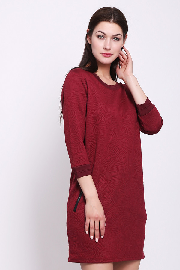 женское платье pezzo, бордовое