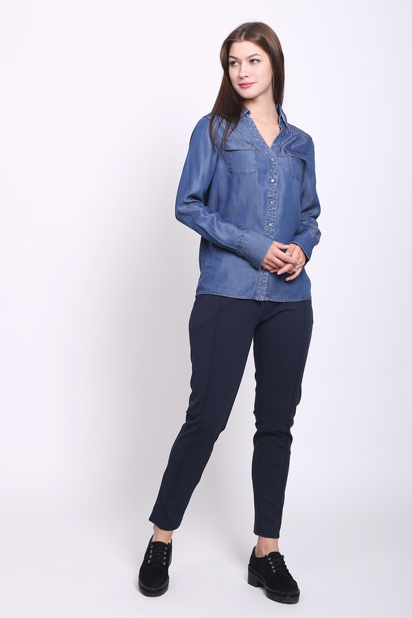 женские брюки pezzo, синие