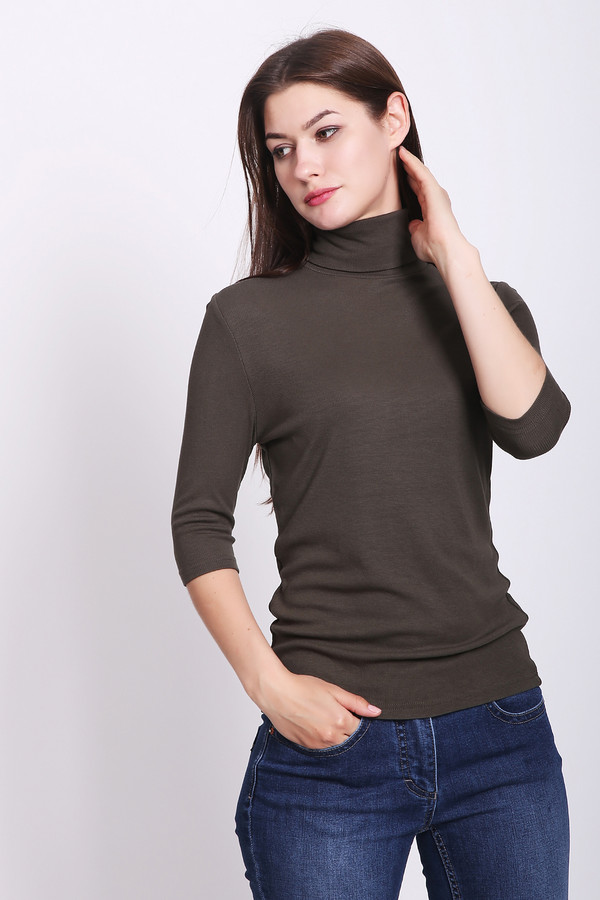 женская футболка pezzo, коричневая