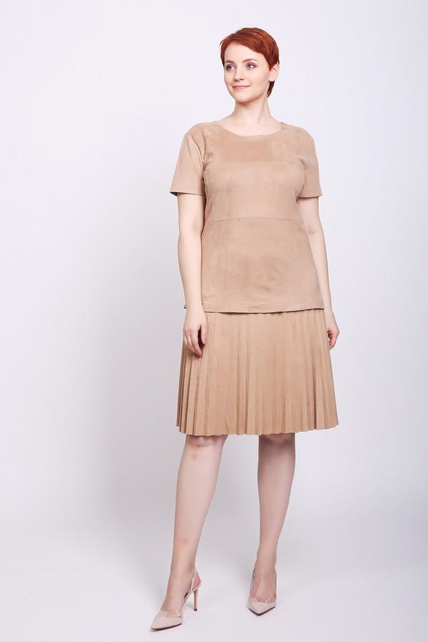 женское платье pezzo, бежевое