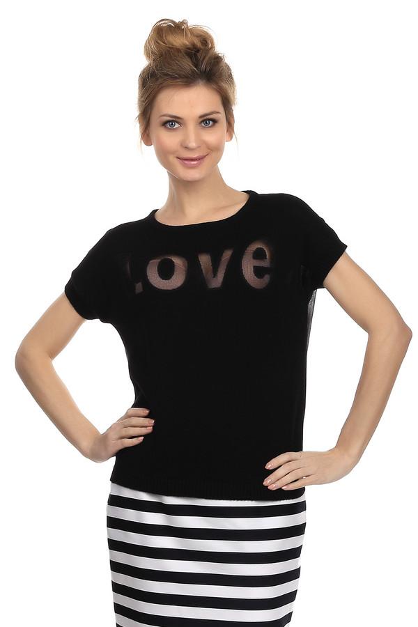 Пуловер OuiПуловеры<br>Эффектный женский пуловер от бренда Oui, представлен в черном цвете. Данное изделие дополнено коротким рукавом, круглым вырезом, легкой шифоновой вставкой черного цвета на спине. Также, отделкой в виде резинки на рукавах, горловине и внизу изделия. Спереди модель декорирована полупрозрачной надписью, выполненной из нити с добавлением люрекса. Состав: 80% хлопок и 20% металл.<br><br>Размер RU: 44<br>Пол: Женский<br>Возраст: Взрослый<br>Материал: хлопок 80%, металл 20%<br>Цвет: Белый