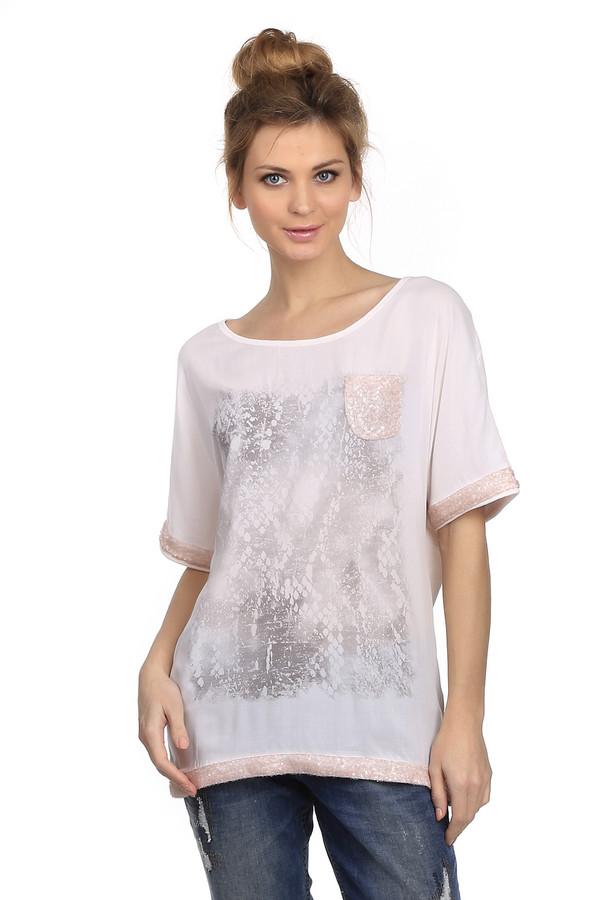 Блузa Marc AurelБлузы<br>Удлиненная женская блуза свободного покроя от бренда Marc Aurel. Это блуза бежевого цвета, украшенная змеиным принтом и пайетками. Изделие дополнено круглым вырезом и рукавом длиной до середины плеча, а также нагрудным карманом с пайетками . Материал - 100% хлопок.<br><br>Размер RU: 50<br>Пол: Женский<br>Возраст: Взрослый<br>Материал: хлопок 100%<br>Цвет: Разноцветный