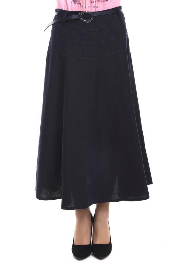 Юбка GardeurЮбки<br>Модная демисезонная юбка Gardeur темно- синего цвета. Изделие выполнено из натурального льна. Дополнено оригинальным тонким поясом. Юбка сделана в форме полусолнца. Длина и цвет позволяют создавать интересные и стильные образы. Данная модель скроет все недостатки фигуры и подчеркнет женственность.<br><br>Размер RU: 50<br>Пол: Женский<br>Возраст: Взрослый<br>Материал: лен 100%<br>Цвет: Синий