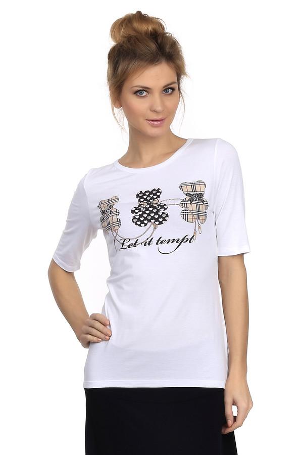Футболка GardeurФутболки<br>Модная женская футболка от бренда Gardeur белого цвета. Изделие выполнено из эластана и вискозы. Модель предназначена для летнего сезона. Футболка дополнена черной надписью Let it tempt. Также на изделии изображены три медведя разных расцветок: два бежевых в клетку и один черный с бежевыми сердечками.<br><br>Размер RU: 46<br>Пол: Женский<br>Возраст: Взрослый<br>Материал: эластан 6%, вискоза 94%<br>Цвет: Разноцветный