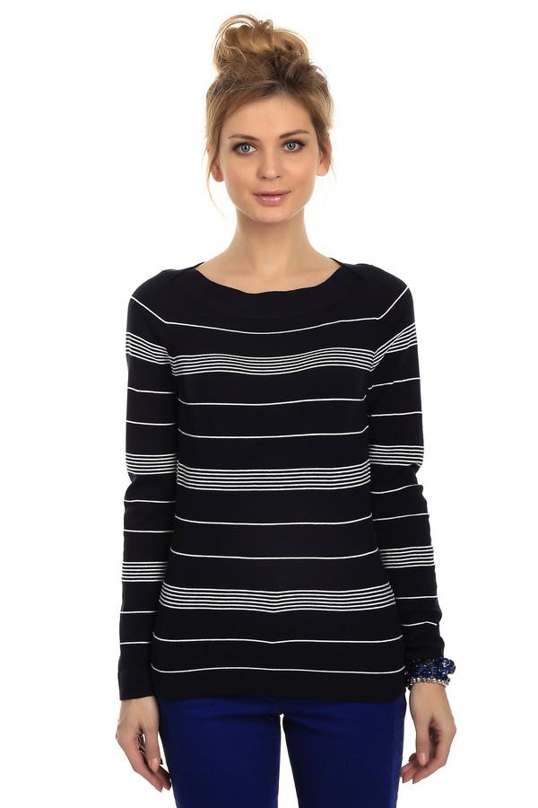 Пуловер Betty BarclayПуловеры<br>Пуловер женский от торговой марки Betty Barclay, из вискозы с добавлением полиэстера. Представлен в черном цвете в белую полоску. Эта модель дополнена вырезом-лодочкой с отделкой в виде резинки, и длинным рукавом.<br><br>Размер RU: 50<br>Пол: Женский<br>Возраст: Взрослый<br>Материал: полиэстер 28%, вискоза 72%<br>Цвет: Белый