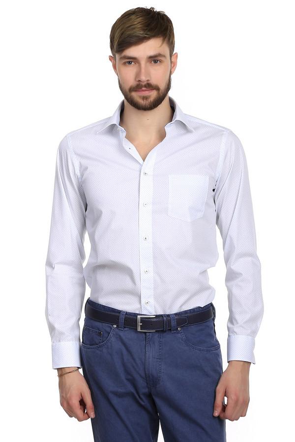 Рубашка с длинным рукавом Casa ModaДлинный рукав<br>Классическая рубашка от бренда Casa Moda приталенного кроя. Изделие дополнено: плотным отложным воротником, планкой на пуговицах, длинным рукавом и небольшим нагрудным карманом. Пошита она из ткани насыщенного белого цвета с узорами, которая на 100% состоит из хлопка. Эта рубашка выглядит очень ярко и очень стильно за счет цвета.<br><br>Размер RU: 46<br>Пол: Мужской<br>Возраст: Взрослый<br>Материал: хлопок 100%<br>Цвет: Голубой