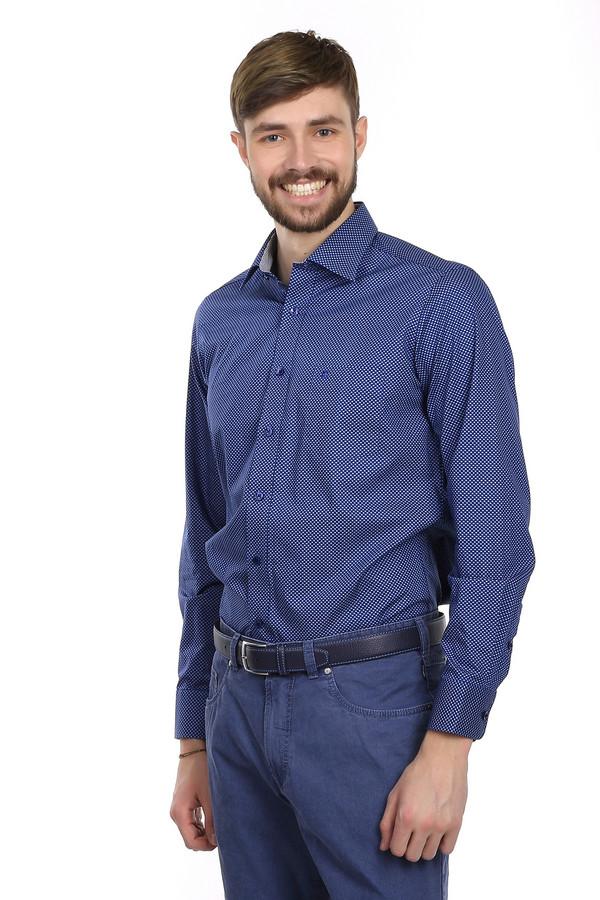 Рубашка с длинным рукавом Casa ModaДлинный рукав<br>Классическая рубашка от бренда Casa Moda приталенного кроя. Изделие дополнено: плотным отложным воротником, планкой на пуговицах, длинным рукавом и небольшим нагрудным карманом. Пошита она из ткани насыщенного темно-синего цвета с узорами, которая на 100% состоит из хлопка. Эта рубашка выглядит очень ярко и очень стильно за счет модного цвета.<br><br>Размер RU: 40<br>Пол: Мужской<br>Возраст: Взрослый<br>Материал: хлопок 100%<br>Цвет: Разноцветный