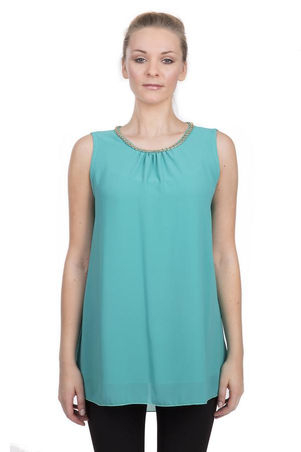 Блузa Sai-KuБлузы<br>Стильная блуза для женщин, от бренда Sai-Ku. Это двухслойная блуза бирюзового цвета, свободного кроя, дополненная круглым воротником, который декорирован золотистой фурнитурой. Изделие изготовлено из 100% полиэстера.<br><br>Размер RU: 44<br>Пол: Женский<br>Возраст: Взрослый<br>Материал: полиэстер 100%<br>Цвет: Голубой