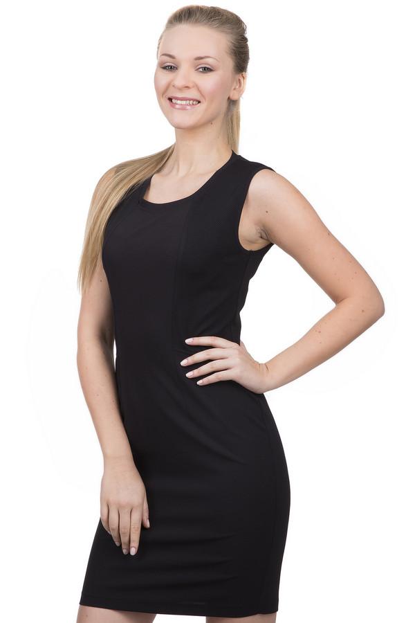 Платье Sai-KuПлатья<br>Стильное женское платье длиной до середины бедра, от бренда Sai-Ku. Данное платье-безрукавка сшито по приталенному крою с U-образным вырезом. Изделие выполнено в черном цвете из полиэстера с добавлением эластана, и декорировано по бокам вставками из сетки. Платье дополнено небольшим вырезом снизу сзади, а также застежкой-молнией на спине.<br><br>Размер RU: 42<br>Пол: Женский<br>Возраст: Взрослый<br>Материал: эластан 3%, полиэстер 97%<br>Цвет: Чёрный