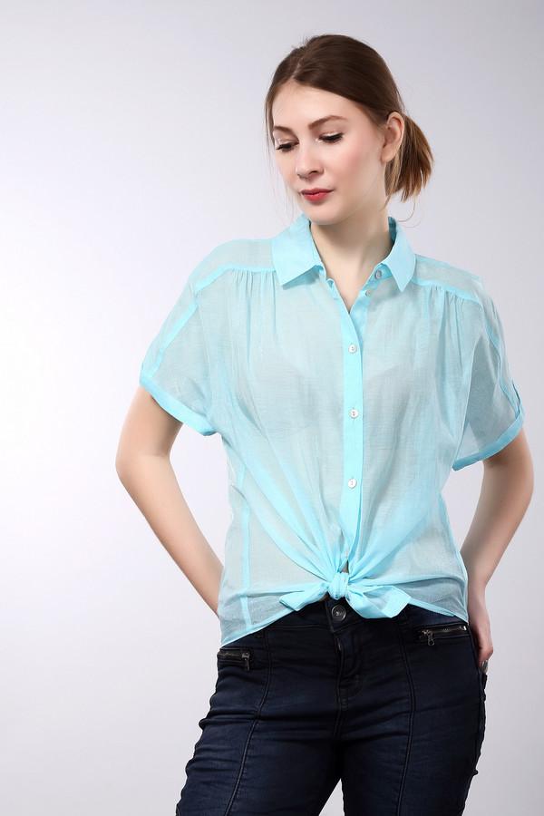 Блузa SteilmannБлузы<br>Легкая летняя женская полупрозрачная блуза от бренда Steilmann. Это блуза голубого цвета, простого покроя, на пуговицах, с отложным воротником и коротким рукавом. Изделие пошито из смеси хлопка и полиамида.<br><br>Размер RU: 52<br>Пол: Женский<br>Возраст: Взрослый<br>Материал: полиамид 32%, хлопок 68%<br>Цвет: Голубой