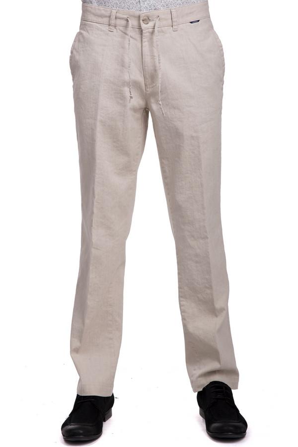 Брюки GardeurБрюки<br>Брюки от бренда Gardeur для мужчин. Это легкие брюки классического кроя со стрелками, дополненные завязками на поясе, а также парой боковых и задних карманов. Брюки сшиты из ткани молочного оттенка, в состав которой входит смесь хлопка и льна с добавлением эластана.<br><br>Размер RU: 48<br>Пол: Мужской<br>Возраст: Взрослый<br>Материал: эластан 2%, хлопок 46%, лен 52%<br>Цвет: Бежевый