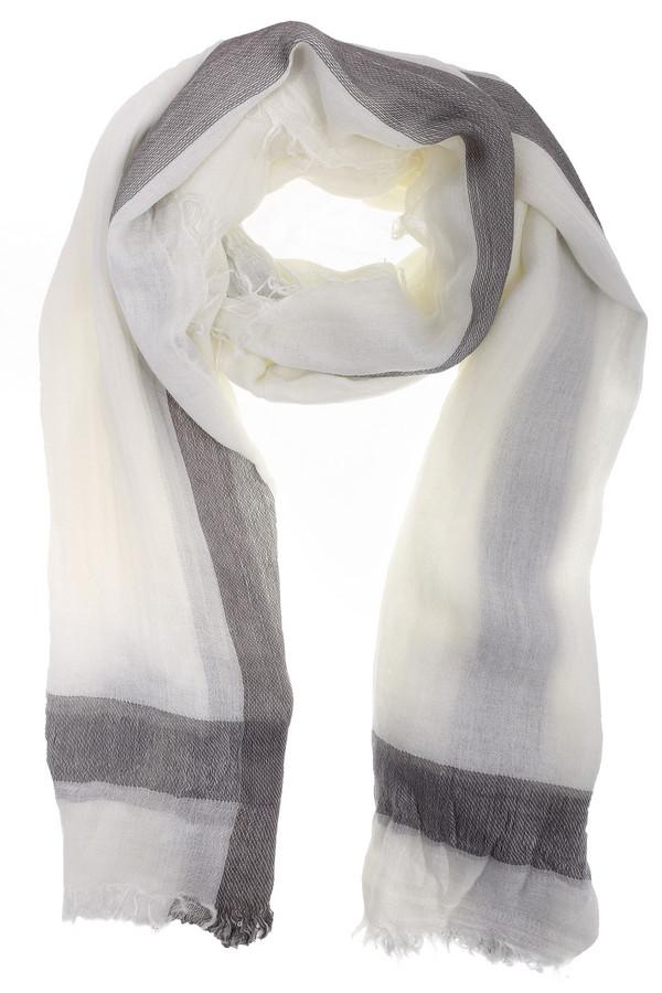 Шарф CodelloШарфы<br>Элегантный женский шарф от бренда Codello белого и серого цветов. Данная модель была сделана из вискозы, полиамида, шерсти и полиэстера. Изделие предназначено для демисезонного периода. Дополнено серыми вставками. Такой шарф может служить шалью в прохладную погоду. При этом, изделие является стильным решением для повседневного образа.<br><br>Размер RU: один размер<br>Пол: Женский<br>Возраст: Взрослый<br>Материал: вискоза 5%, полиамид 10%, шерсть 10%, полиэстер 75%<br>Цвет: Серый