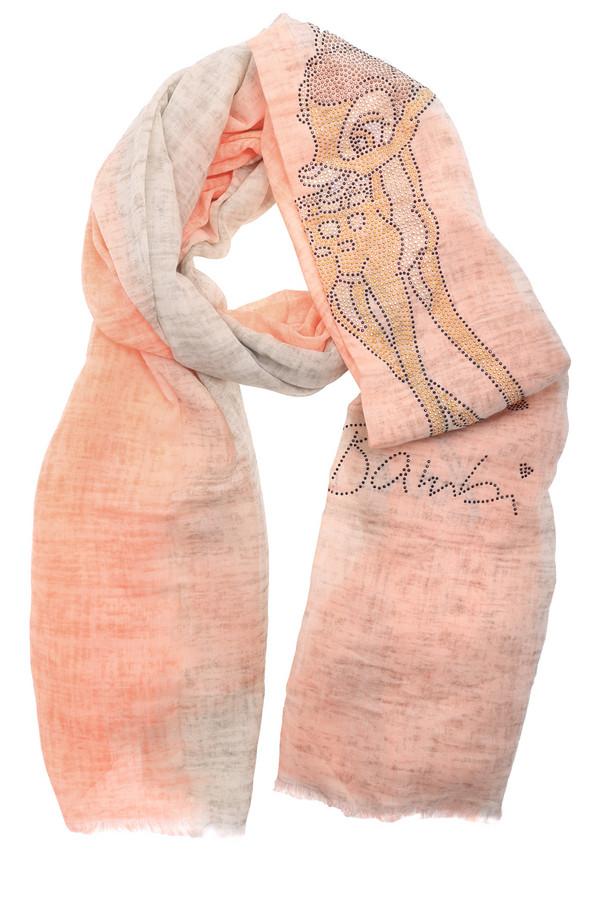 Шарф CodelloШарфы<br>Оригинальный женский шарф от бренда Codello оранжевого и бежевого цветов. Эта модель сделана из хлопка. Данное изделие предназначено для демисезонного периода. Оно дополнено изображением Бэмби. Такой шарф отлично сочетается с разными однотонными вещами. За счет интересного рисунка смотрится ярко.<br><br>Размер RU: один размер<br>Пол: Женский<br>Возраст: Взрослый<br>Материал: хлопок 100%<br>Цвет: Разноцветный