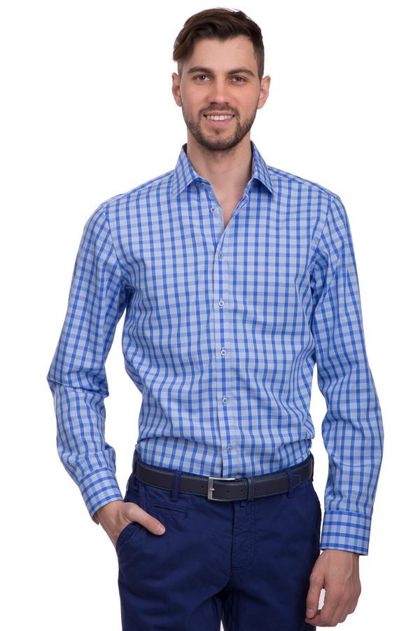 Рубашка с длинным рукавом VentiДлинный рукав<br>Мужская рубашка в сине-голубую клетку от бренда Venti. Изделие выполнено из 100% хлопка по классическому покрою. У данной модели отложной воротник и длинный рукав, а застегивается она на пуговицы.<br><br>Размер RU: 46<br>Пол: Мужской<br>Возраст: Взрослый<br>Материал: хлопок 100%<br>Цвет: Разноцветный