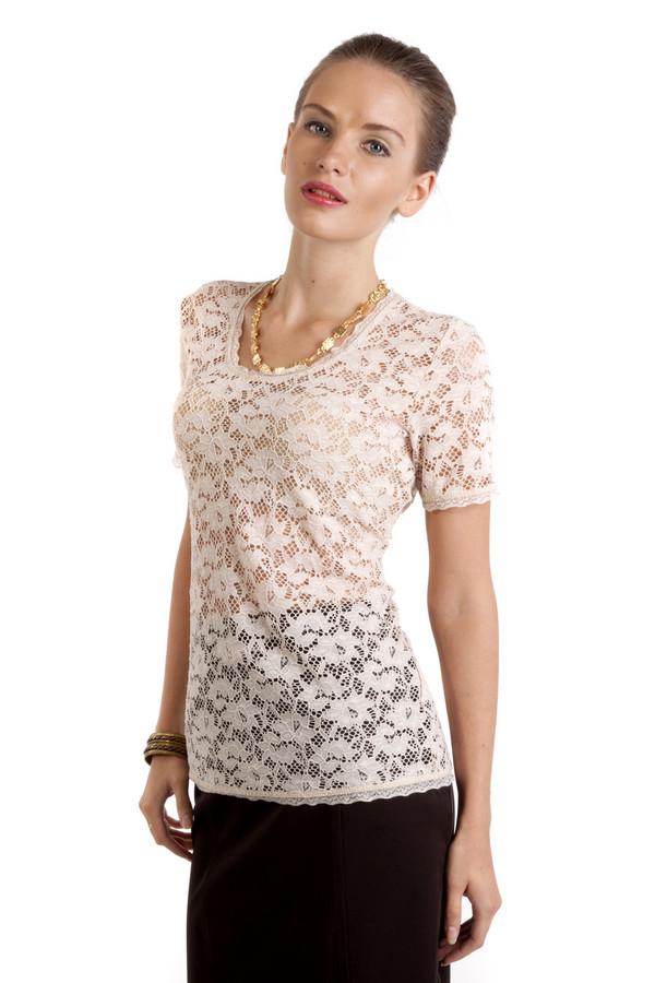Блузa Betty BarclayБлузы<br>Кружевная блуза Betty Barclay бежевого цвета добавит романтичности и нежности вашему образу. Изделие дополнено: закругленным вырезом горловины и короткими рукавами. Прекрасно будет смотреться  c юбкой .<br><br>Размер RU: 50<br>Пол: Женский<br>Возраст: Взрослый<br>Материал: эластан 7%, полиамид 93%<br>Цвет: Бежевый