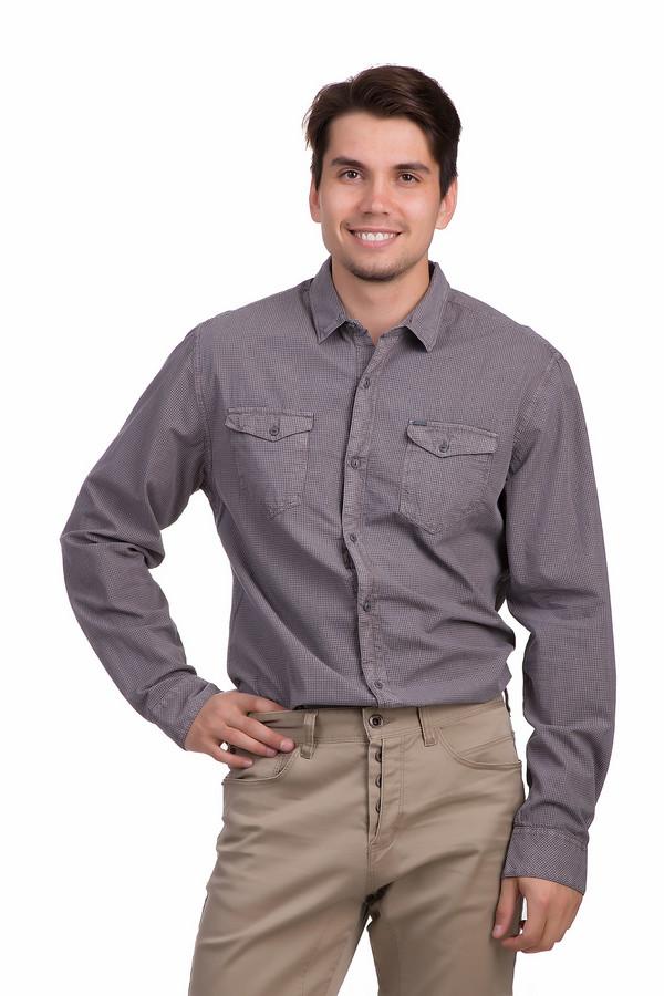 Рубашка с длинным рукавом s.Oliver DENIMДлинный рукав<br>Рубашка для мужчин от бренда s.Oliver. Это рубашка в мелкую клетку, выполненную в сером и кофейном оттенках. Она сшита по классическому покрою с длинным рукавом и отложным воротником. Изделие застегивается на пуговицы и дополнено двумя нагрудными карманами. Материал - 100% хлопок.<br><br>Размер RU: 48-50<br>Пол: Мужской<br>Возраст: Взрослый<br>Материал: хлопок 100%<br>Цвет: Бежевый