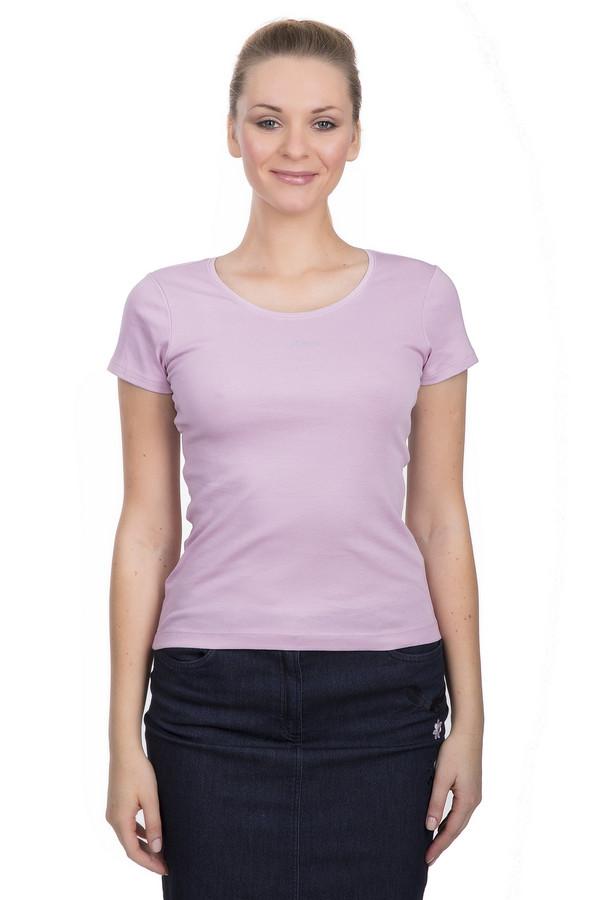 Футболка s.OliverФутболки<br>Классическая футболка для женщин от бренда s.Oliver. Футболка представлена в светло-розовом цвете и выполнена из 100% хлопка. У данной модели короткий рукав и круглый вырез.<br><br>Размер RU: 48<br>Пол: Женский<br>Возраст: Взрослый<br>Материал: хлопок 100%<br>Цвет: Сиреневый