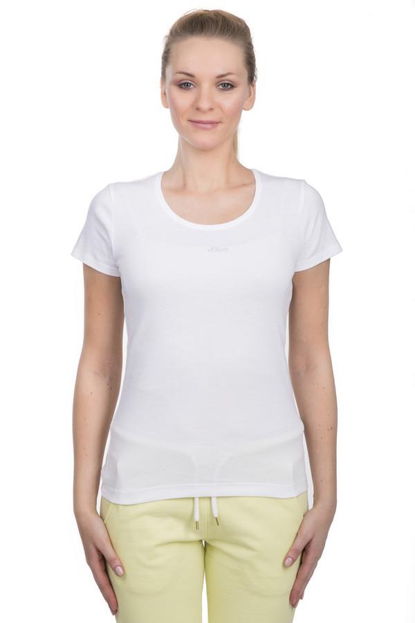 Футболка s.OliverФутболки<br>Женская футболка от бренда s.Oliver. Данная футболка выполнена по классическому приталенному крою с круглым вырезом и коротким рукавом. Изделие пошито из 100% хлопка и дополнено эмблемой торговой марки s.Oliver на груди.<br><br>Размер RU: 44<br>Пол: Женский<br>Возраст: Взрослый<br>Материал: хлопок 100%<br>Цвет: Белый