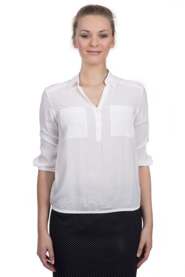 Блузa s.OliverБлузы<br>Однотонная женская блуза бренда s.Oliver. Это блуза простого покроя, выполненная из полупрозрачного материала белого цвета, в состав которого входит 100% вискоза. Изделие дополнено нагрудными карманами, отложным воротником с v-образным вырезом, и рукавом длиной до середины локтя.<br><br>Размер RU: 42<br>Пол: Женский<br>Возраст: Взрослый<br>Материал: вискоза 100%<br>Цвет: Белый