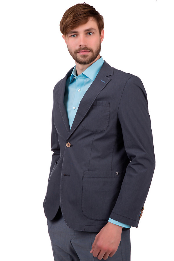 Пиджак CalamarПиджаки<br>Пиджак для мужчин от бренда Calamar. Это пиджак на пуговицах, темно-серого цвета, выполненный из хлопка с добавлением эластана. Изделие дополнено вырезом на спине снизу, отложным воротником с лацканами, нагрудным карманом, а также парой боковых. Пуговицы выполнены в бежевом цвете.<br><br>Размер RU: 50К<br>Пол: Мужской<br>Возраст: Взрослый<br>Материал: эластан 1%, хлопок 99%<br>Цвет: Серый