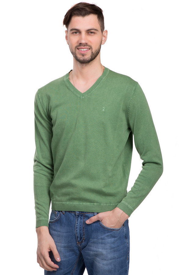 Джемпер CalamarДжемперы<br>Стильный джемпер для мужчин. Это джемпер от бренда Calamar. Данная модель представлена в зеленом цвете, дополнена резинками снизу и на рукавах, а также v-образным вырезом. Материал - 100% хлопок.<br><br>Размер RU: 50-52<br>Пол: Мужской<br>Возраст: Взрослый<br>Материал: хлопок 100%<br>Цвет: Зелёный