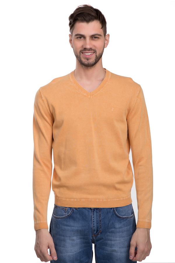 Джемпер CalamarДжемперы и Пуловеры<br>Стильный джемпер для мужчин. Это джемпер от бренда Calamar. Данная модель представлена в светло-оранжевом цвете, дополнена резинками снизу и на рукавах, а также v-образным вырезом. Материал - 100% хлопок.<br><br>Размер RU: 42-44<br>Пол: Мужской<br>Возраст: Взрослый<br>Материал: хлопок 100%<br>Цвет: Оранжевый