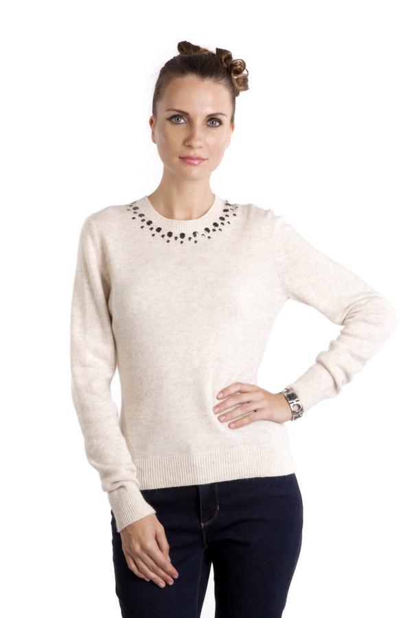 Пуловер PezzoПуловеры<br>Бежевый женский пуловер Pezzo приталенного кроя. Изделие дополнено: круглым вырезом и длинными рукавами. Ворот, манжеты и нижний кант оформлены трикотажной резинкой. Ворот декорирован плоскими бусинами металлического цвета.<br><br>Размер RU: 54<br>Пол: Женский<br>Возраст: Взрослый<br>Материал: полиэстер 30%, нейлон 20%, шерсть 5%, вискоза 40%, ангора 5%<br>Цвет: Бежевый