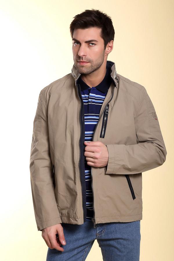 Куртка LerrosКуртки<br>Бежевая куртка от бренда Lerros из хлопка и нейлона идеальна для ношения в демисезон. Сама куртка застёгивается на молнию по центру, а её ворот – на две кнопки. На воротнике присутствует декоративный замок. Изделие дополнено тремя карманами – основными (диагональными) и нагрудным, расположенным по вертикали. Особую оригинальность модели придаёт декоративная прострочка на плечах.<br><br>Размер RU: 46-48<br>Пол: Мужской<br>Возраст: Взрослый<br>Материал: хлопок 64%, нейлон 36%<br>Цвет: Разноцветный