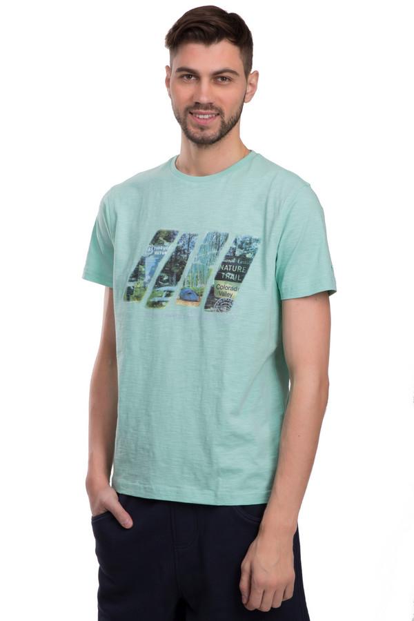Футболкa LerrosФутболки<br>Футболка для мужчин от бренда Lerros. Эта классическая футболка сшита из мягкого и дышащего хлопка. Изделие дополнено: круглым воротником и короткими рукавами длиной до середины плеча. Футболка голубого цвета с неординарным принтом цветной фотографии. Ее легко сочетать с другими вещами, особенно если это вещи в стиле кэжуал. Так же такая футболка неплохо вписывается в спортивный стиль.<br><br>Размер RU: 44-46<br>Пол: Мужской<br>Возраст: Взрослый<br>Материал: хлопок 100%<br>Цвет: Голубой