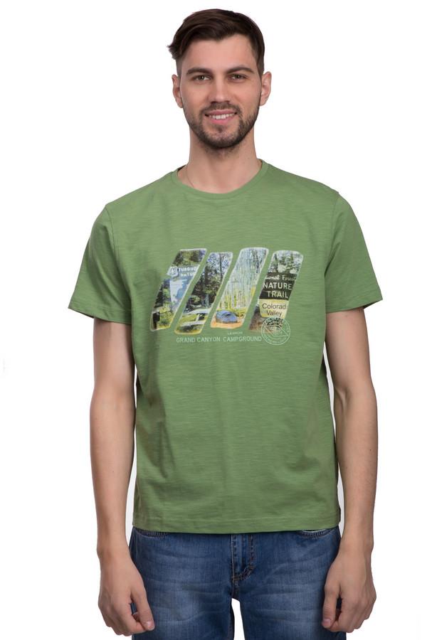 Футболкa LerrosФутболки<br>Футболка для мужчин от бренда Lerros. Эта классическая футболка сшита из мягкого и дышащего хлопка. Изделие дополнено: круглым воротником и короткими рукавами длиной до середины плеча. Футболка зеленого цвета с неординарным принтом цветной фотографии. Ее легко сочетать с другими вещами, особенно если это вещи в стиле кэжуал. Так же такая футболка неплохо вписывается в спортивный стиль.<br><br>Размер RU: 44-46<br>Пол: Мужской<br>Возраст: Взрослый<br>Материал: хлопок 100%<br>Цвет: Зелёный