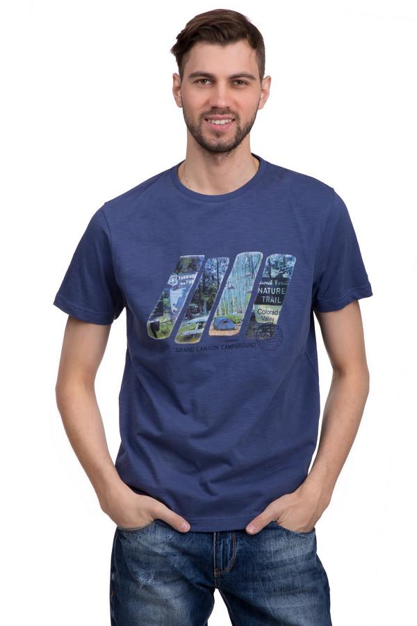 Футболкa LerrosФутболки<br>Футболка для мужчин от бренда Lerros. Эта классическая футболка сшита из мягкого и дышащего хлопка. Изделие дополнено: круглым воротником и короткими рукавами длиной до середины плеча. Футболка синего цвета с неординарным принтом цветной фотографии. Ее легко сочетать с другими вещами, особенно если это вещи в стиле кэжуал. Так же такая футболка неплохо вписывается в спортивный стиль.<br><br>Размер RU: 44-46<br>Пол: Мужской<br>Возраст: Взрослый<br>Материал: хлопок 100%<br>Цвет: Синий