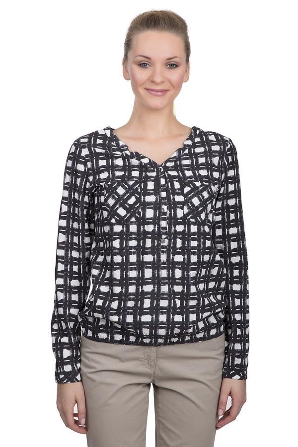 Блузa LerrosБлузы<br>оздушная женская блуза от бренда Lerros. Это легкая блуза в оригинальную черно-белую клетку, дополненная v-образным вырезом, длинным рукавом и нагрудными карманами. Блуза пошита из натуральной вискозы.<br><br>Размер RU: 46<br>Пол: Женский<br>Возраст: Взрослый<br>Материал: вискоза 100%<br>Цвет: Разноцветный