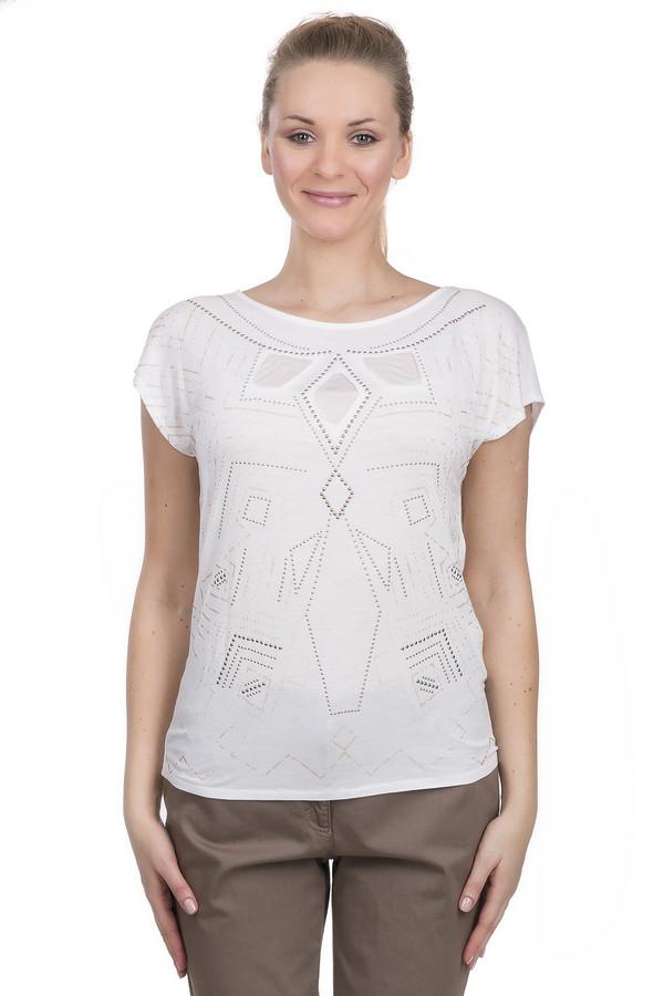 Футболка TaifunФутболки<br>Футболка для женщин, выполненная в белом цвете из вискозы с добавлением эластана. Это футболка от торговой марки Taifun, дополненная орнаментами из фурнитуры. У данной футболки круглый вырез и короткий рукав.<br><br>Размер RU: 42<br>Пол: Женский<br>Возраст: Взрослый<br>Материал: эластан 5%, вискоза 95%<br>Цвет: Белый