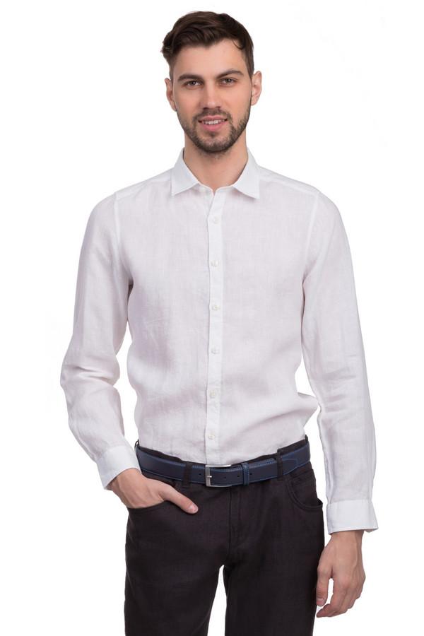 Рубашка с длинным рукавом OlympДлинный рукав<br>Льняная мужская рубашка от бренда Olymp. Это рубашка белого цвета, сшитая по классическому покрою с отложным воротником и длинным рукавом. Застегивается данная рубашка на пуговицы белого цвета.<br><br>Размер RU: 39-40<br>Пол: Мужской<br>Возраст: Взрослый<br>Материал: лен 100%<br>Цвет: Белый