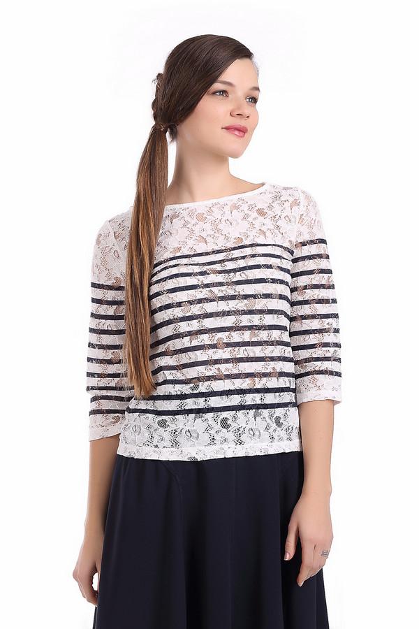 Блузa SetБлузы<br>Стильная женская ажурная блуза от бренда Set. Изделие дополнено рукавом три четверти и вырезом-лодочкой. Это блуза белого цвета в темно-синюю полоску. Она пошита из материала, который на 30% состоит из полиамида и на 70% из хлопка.<br><br>Размер RU: 44<br>Пол: Женский<br>Возраст: Взрослый<br>Материал: полиамид 30%, хлопок 70%<br>Цвет: Чёрный