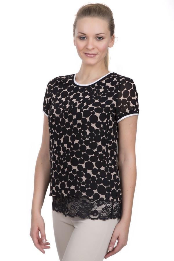 Блузa PassportБлузы<br>Модная блуза для женщин от бренда Passport. Данная модель представлена в бежевом цвете, в черный горошек. У данного изделия круглый вырез, и короткий рукав с белой окантовкой, а кроме того, оно дополнено кружевными вставками в нижней части.<br><br>Размер RU: 42<br>Пол: Женский<br>Возраст: Взрослый<br>Материал: полиэстер 100%<br>Цвет: Чёрный